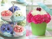 Nhà đẹp - Cắm hoa cupcakes đơn giản mà đẹp nhà