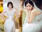 Làm đẹp - Học lỏm cách tạo dáng với váy cưới của sao Việt
