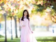 Làng sao - HH Jennifer Chung mặc áo dài chào năm mới