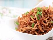 Bếp Eva - Thăn lợn xé sợi xào khô bạn thử chưa?