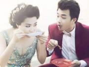 Làng sao - Vợ chồng Lê Khánh ăn bánh tráng vỉa hè sau lễ cưới