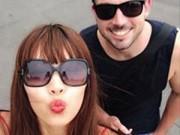 Làng sao - Hà Anh tình tứ bên bạn trai ngoại quốc ở Australia