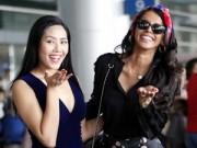 Thời trang - Nguyễn Thị Loan rạng ngời bên Hoa hậu Thế giới 2011