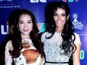 """Thời trang - Trương Ngọc Ánh khó """"lu mờ"""" bên Hoa hậu Thế giới 2011"""