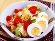 Bếp Eva - Cách làm salad cá ngừ từ đồ hộp