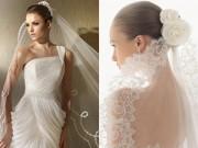 Thời trang - Cô dâu đẹp ngất ngây với muôn kiểu voan đội đầu