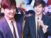 Làng sao - Lee Min Ho điển trai tươi rói chụp hình cùng fan