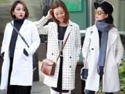 Thời trang - Trẻ trung và sang trọng với áo khoác dạ màu trắng