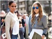 Thời trang - Mặc áo len lửng theo cách độc đáo
