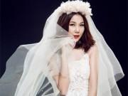 Người mẫu - Thanh Hằng lộng lẫy với váy cưới xuyên thấu