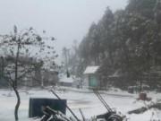 Tin hot - Hình ảnh tuyết rơi dày ở Trạm Tôn - Sapa