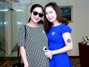 Ốc Thanh Vân khoe bụng bầu sắp sinh bên Thanh Thảo Hugo