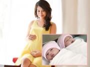 Mang thai 3-6 tháng - Chị gái Hoàng My đã hạ sinh hai con gái đáng yêu
