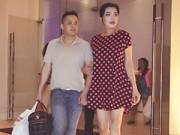 Hậu trường - Bạn trai Việt kiều tháp tùng Cindy Thái Tài chạy show