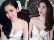 Thời trang - Sao Việt khéo chọn váy cưới gợi cảm và hợp thời tiết