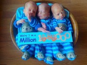 Mang thai 3-6 tháng - Ca sinh ba tự nhiên giống hệt nhau cực hiếm gặp