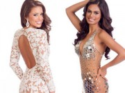 Thời trang Sao - Mát mắt vì váy dạ tiệc táo bạo của hoa hậu Hoàn vũ 2014
