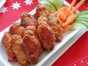 Thực đơn – Công thức - Cánh gà chiên sốt cà ngon cơm ngày lạnh