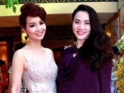 Hậu trường - Trang Nhung khoe bụng bầu 7 tháng bên Mai Thu Huyền