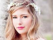 Làm đẹp - Mùa cưới 2015: Mốt dùng hoa tươi cài tóc lên ngôi