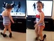 Clip Eva - Bé gái đi giày cao gót nhảy múa sôi động
