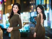 Dáng đẹp - Nguyễn Thị Loan khoe lưng trần trắng mịn trong gió lạnh