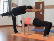 Bà bầu - Mẹ bầu dáng đẹp nhờ chăm tập yoga cùng chồng