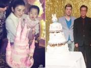 """Làng sao - Huỳnh Dịch và chồng cũ """"đối đầu"""" làm sinh nhật cho con"""