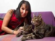 Lạ - Độc - Vui - Người phụ nữ cưới... 2 chú mèo làm chồng