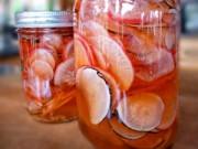 Thực đơn – Công thức - Củ cải ngâm chua đơn giản, trôi cơm