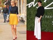 Thời trang Sao - Váy xếp pli ngọt ngào từ hè sang đông