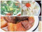 Bếp Eva - Bữa cơm đơn giản với thịt kho, canh tu hài