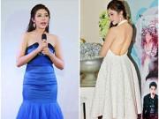 Làng sao - HH Đặng Thu Thảo thay 2 váy gợi cảm trong sinh nhật