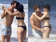 Làng sao - Bất chấp phản đối, Miley Cyrus hôn bạn trai đắm đuối