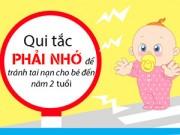 Dạy con - Qui tắc ngăn ngừa tai nạn cho trẻ sơ sinh đến 2 tuổi
