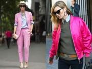 """Thời trang - Tuyệt chiêu mặc màu hồng không bị """"quê"""""""