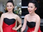Làng sao - Linh Nga vai trần gợi cảm đi dự event