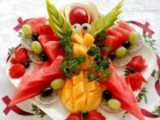 Bếp Eva - Tỉa và xếp đĩa hoa quả đãi khách ngày Tết