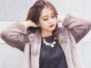 Thời trang - Áo khoác lông sang và điệu cho nữ công sở chơi Tết
