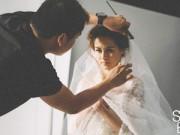 """Hậu trường - """"Mỹ nhân đẹp nhất Philippines"""" tung ảnh cô dâu xinh đẹp"""