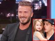 """Làng sao - Nhóc Harper """"chê"""" bố Beckham béo ú"""