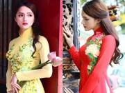 """Thời trang Sao - Hương Giang Idol gợi cảm hơn cả """"gái xịn"""" với áo dài"""
