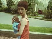 Làng sao - Trà My Idol bế con trai 2 tháng tuổi đi dạo