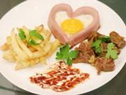 """Bếp Eva - Bữa sáng lãng mạn với """"trái tim"""" trứng cho Valentine"""
