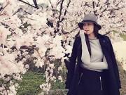 Làng sao - Hà Hồ hạnh phúc tận hưởng gió đông Hà Nội
