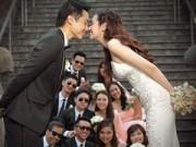 Làng sao - Trúc Diễm và chồng tinh nghịch trong ảnh cưới