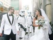 """Tình yêu - Giới tính - Đám cưới ấn tượng theo kiểu """"Cuộc chiến của những vì sao"""""""