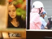 Làng sao - HH Diễm Hương giản dị ngồi xe máy đi mua hoa Tết