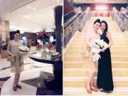 Làng sao - Trang Nhung bụng bầu 8 tháng đón sinh nhật bên gia đình