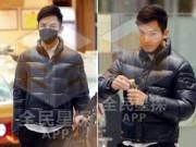 Làng sao - Chung Hán Lương bịt khẩu trang kín mít tại sân bay